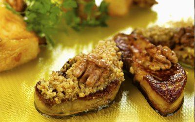 Foie gras de canard rôti au Miel et Noix du Périgord