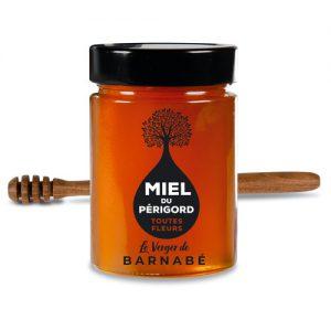 Miel du Périgord - pot en verre de 300g - Le Verger de Barnabé